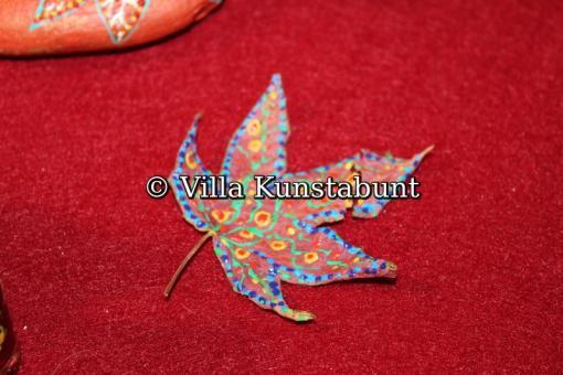Dot-Art Herbstblatt